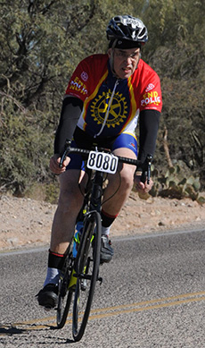 Scott Daniels on a training ride.