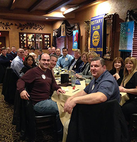 The Central Ocean Toms River Rotary Club enjoys the in person interaction during a club meeting,