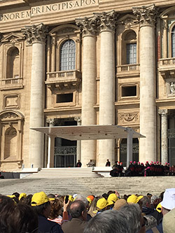 Rotary members at the Vatican for the Jubilee.