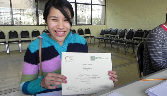 Keyla with diploma