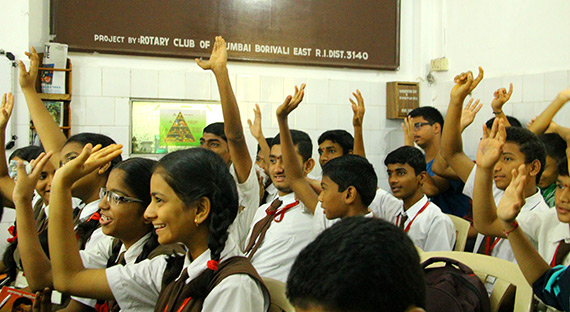 Students at the workshop