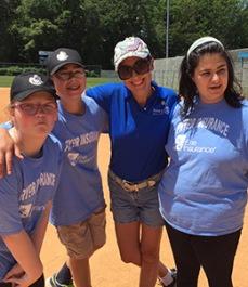Tiffany and baseball players