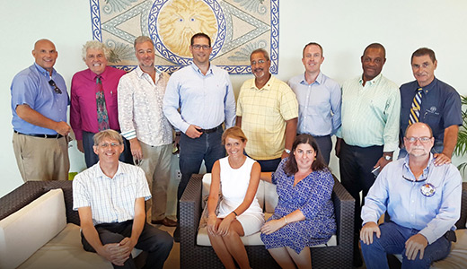 The Rotary Club of Cayman Island's project team to Guatemala.