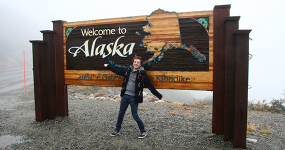 Belgian Exchange Student Marcellin Niset in Alaska