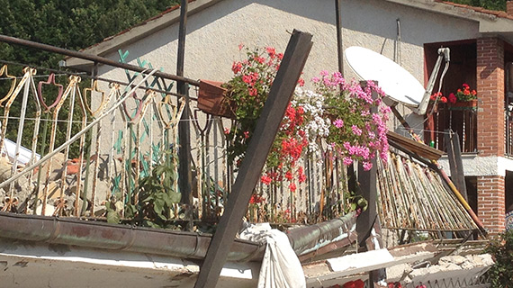 Earthquake damage central Italy