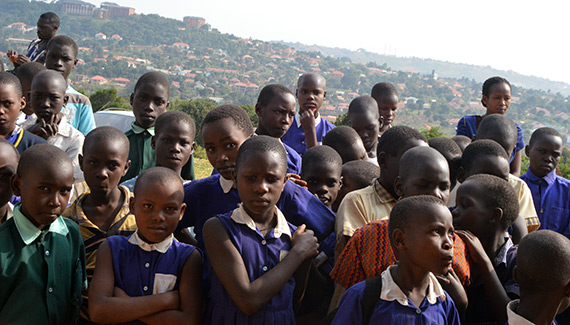 School children in Kampala, Uganda.