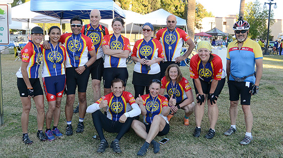 2015 Miles to End Polio team