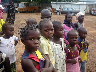 Children in a refugee camp in eastern Nigeria.
