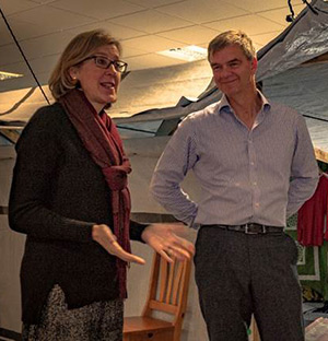 Newton at ShelterBox HQ