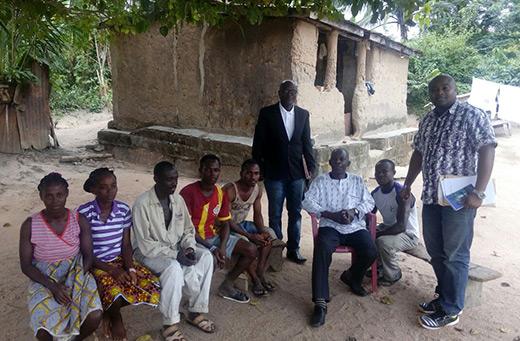 Community leaders in Nsuobri village.