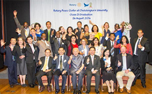 Rotary Peace Centers at Chulalongkorn class of 2016.