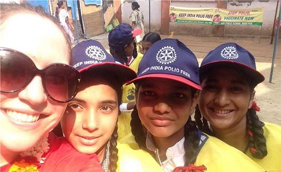 Selfies at a Khera Khurd polio rally