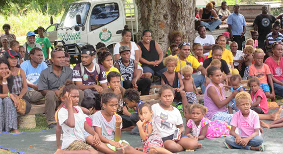 A community reconciliation event in the Solomon Islands