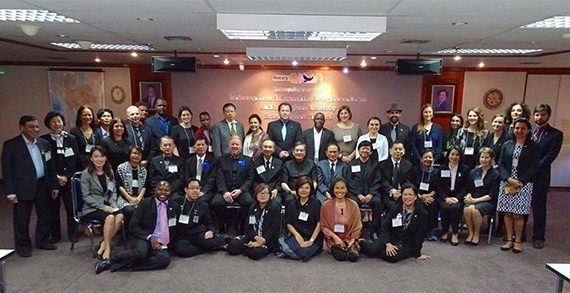 Rotary Peace Fellows at Chulalongkorn University in Bangkok.