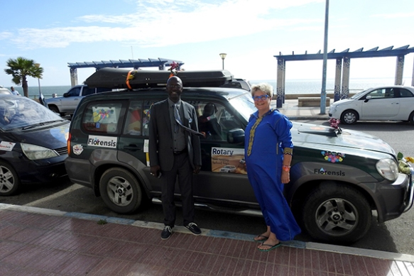 The Dutch Rotarians took 11 cars to The Gambia