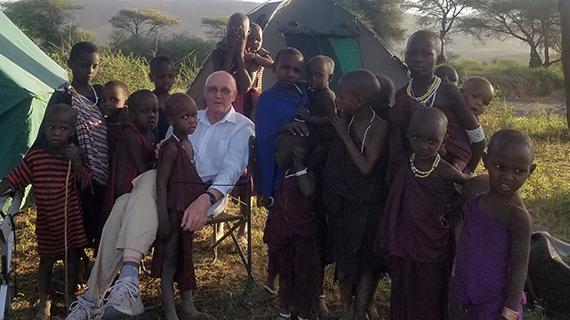 Rick Olson and children