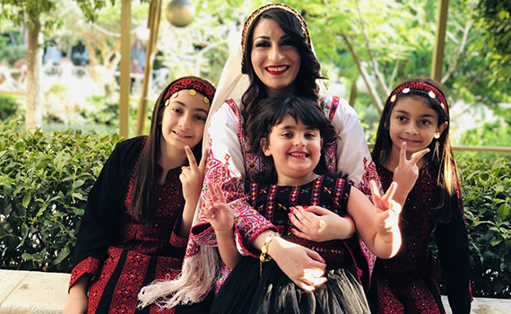 Reem Ghunaim and her nieces.