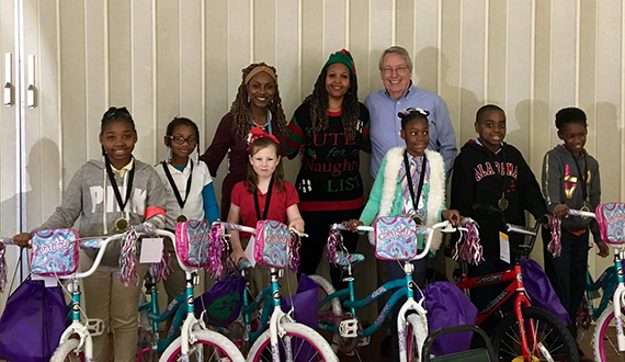 Selma club bicycle giveaway