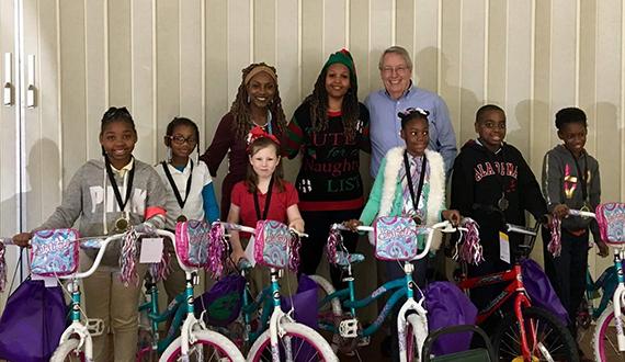 Selma club bicycle giveaway