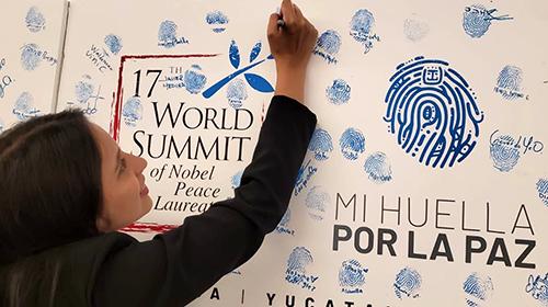 Catalina Gutierrez mark for peace