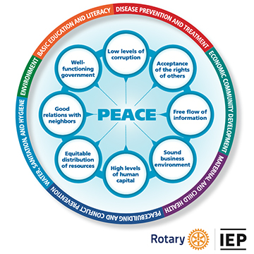 The Pillars of Peace and areas of focus